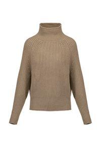 Allude - Kaszmirowy sweter z golfem ALLUDE. Typ kołnierza: golf. Materiał: kaszmir. Długość rękawa: raglanowy rękaw