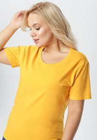 Żółty t-shirt Born2be #5