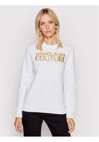 Versace Jeans Couture Bluza 71HAIT01 Biały Regular Fit. Typ kołnierza: kołnierzyk włoski. Kolor: biały