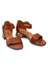 Caprice - Sandały CAPRICE - 9-28208-26 Cognac Nappa 303. Kolor: brązowy. Materiał: skóra. Sezon: lato