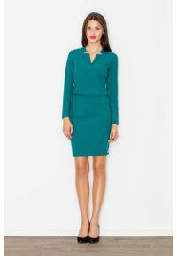 Zielona sukienka Figl na co dzień, casualowa, prosta