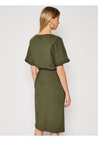 Zielona sukienka G-Star RAW na co dzień, prosta, casualowa
