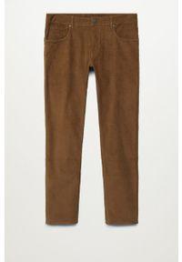 Mango Man - Spodnie Bardem. Kolor: beżowy