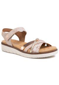 Różowe sandały Remonte casualowe, na co dzień
