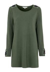 Cellbes Dżersejowa tunika ze sznurowaniem khaki female zielony 38/40. Kolor: zielony. Materiał: jersey. Długość rękawa: długi rękaw. Długość: długie