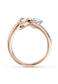 Wielokolorowy pierścionek Swarovski z aplikacjami, z kryształem, metalowy