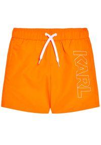 Karl Lagerfeld - KARL LAGERFELD Szorty kąpielowe Z20055 S Pomarańczowy Regular Fit. Kolor: pomarańczowy