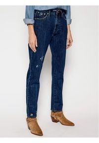 One Teaspoon Jeansy Straight Fit Awe Bag 23477 Granatowy Straight Fit. Kolor: niebieski