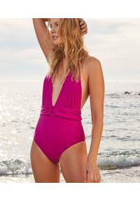 Różowy strój kąpielowy jednoczęściowy Etam