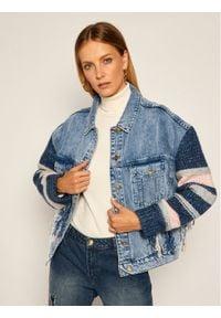 My Twin Kurtka jeansowa 202MP2463 Granatowy Regular Fit. Kolor: niebieski. Materiał: jeans