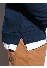 Niebieska bluza Ombre Clothing bez kaptura
