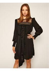 Babylon Sukienka koktajlowa S00963 Czarny Regular Fit. Kolor: czarny. Styl: wizytowy