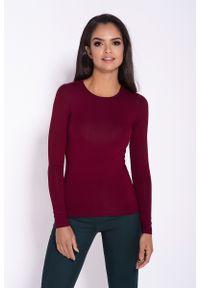 Czerwona bluzka z długim rękawem Dursi na co dzień, casualowa