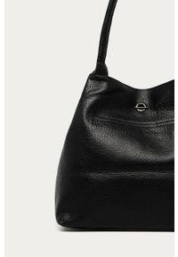 Czarna shopperka Answear Lab wakacyjna, na ramię