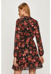 Czarna sukienka Haily's w kwiaty, prosta