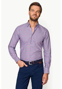 Lancerto - Koszula Mixkolor w Kratę Charlotte. Materiał: jeans, tkanina, bawełna. Wzór: ze splotem, kratka