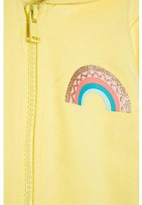 Żółta bluza rozpinana OVS na co dzień, z kapturem, casualowa