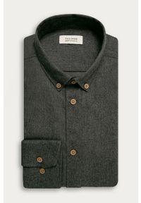 Szara koszula Tailored & Originals button down, na co dzień
