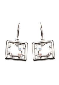 Polcarat Design - Srebrne kolczyki z krystałem Swarovskiego K 987. Materiał: srebrne. Kolor: srebrny. Wzór: aplikacja. Kamień szlachetny: kryształ
