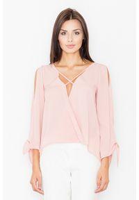 Różowa bluzka z długim rękawem Figl