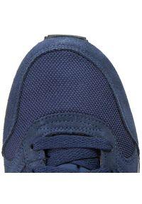 Niebieskie półbuty Nike na co dzień, na sznurówki, z cholewką, klasyczne