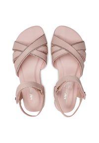 Bibi - Sandały BIBI - Little Me 1104165 Camellia. Kolor: różowy. Materiał: skóra ekologiczna. Wzór: aplikacja