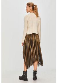 Wielokolorowa sukienka AllSaints plisowana, casualowa