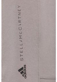Adidas by Stella McCartney - adidas by Stella McCartney - Bluza. Kolor: szary. Materiał: bawełna, dzianina, poliester. Długość rękawa: długi rękaw. Długość: długie
