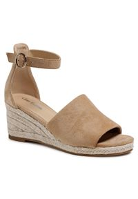 Beżowe sandały Clara Barson z aplikacjami