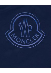 MONCLER KIDS - Strój kąpielowy 6-12 lat. Kolor: niebieski. Materiał: materiał. Wzór: aplikacja
