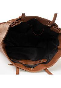 Brązowa torebka klasyczna Jenny Fairy skórzana, klasyczna