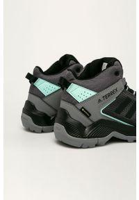 Czarne buty trekkingowe adidas Performance z cholewką, na sznurówki