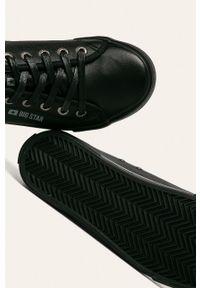 Czarne niskie trampki Big-Star z okrągłym noskiem, na sznurówki, z cholewką