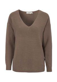 Cream Sweter bawełniany Sillar brązowy female brązowy M (38). Typ kołnierza: dekolt w serek. Kolor: brązowy. Materiał: bawełna. Styl: elegancki