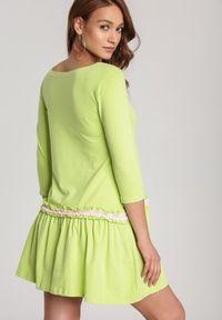 Renee - Limonkowa Sukienka Palathyia