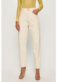 Kremowe jeansy Pepe Jeans z podwyższonym stanem #4