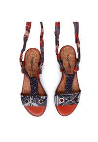 Srebrne sandały Desigual casualowe, na co dzień