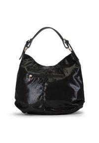 Czarna torebka worek Wittchen elegancka, na ramię #5