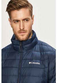 Niebieska kurtka columbia casualowa, bez kaptura, na co dzień
