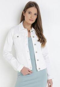 Biała kurtka jeansowa Born2be