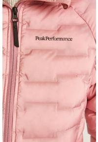Różowa kurtka Peak Performance casualowa, z kapturem