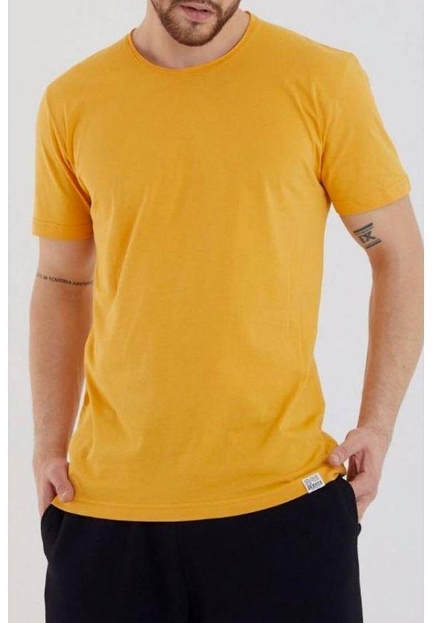 Żółty t-shirt IVET na co dzień, casualowy