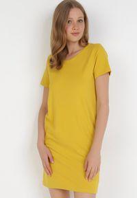 Born2be - Żółta Sukienka Hysopheu. Kolor: żółty