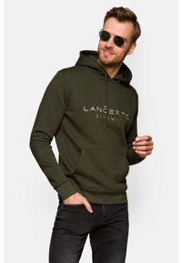 Lancerto - Bluza Zielona z Kapturem Avery. Okazja: na co dzień. Typ kołnierza: kaptur. Kolor: zielony. Materiał: dresówka, bawełna, jeans, dzianina, poliester. Wzór: kolorowy. Styl: sportowy, casual