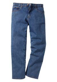 Niebieskie jeansy bonprix klasyczne, z podwyższonym stanem