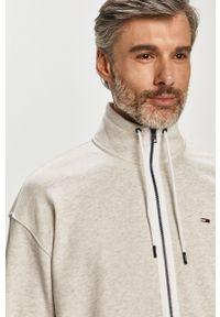 Szara bluza rozpinana Tommy Jeans na co dzień, bez kaptura, casualowa