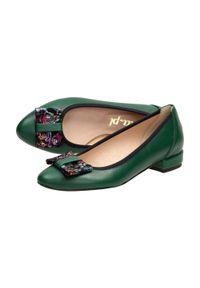 Zielone baleriny Suzana klasyczne