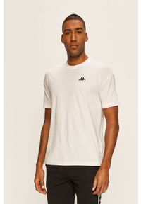 Biały t-shirt Kappa casualowy, na co dzień