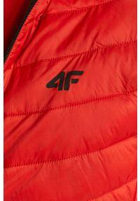 Czerwona kurtka 4f z kapturem, gładkie, na co dzień