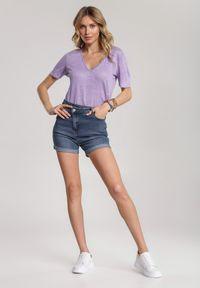 Renee - Niebieskie Szorty Jeniella. Kolor: niebieski. Materiał: jeans. Długość: krótkie